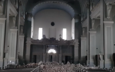 The earthquake in Zagreb damaged Basilica of the Sacred Heart