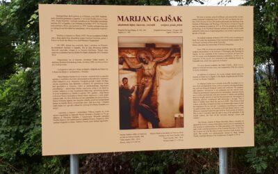 Info-panel o umjetniku-isusovcu o. Marijanu Gajšaku u Klanjcu